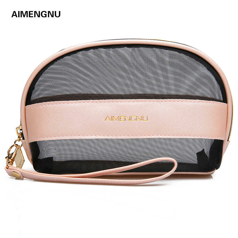 Cosmetic bag women small Shell shape Transparent Portable Travel wash storage makeup Toiletry Bag