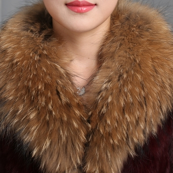 2019 Winter Real Raccoon Fur Collar 100% Natural Raccoon Fur Scarf 90CM Fashion Coat Sweater Scarves Collar Neck Cap With image
