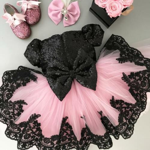 PUDCOCO   Flower     Girl     Dress   Princess Kids Party Lace Tulle Tutu Wedding Bridesmaid   Dress   Support wholesale