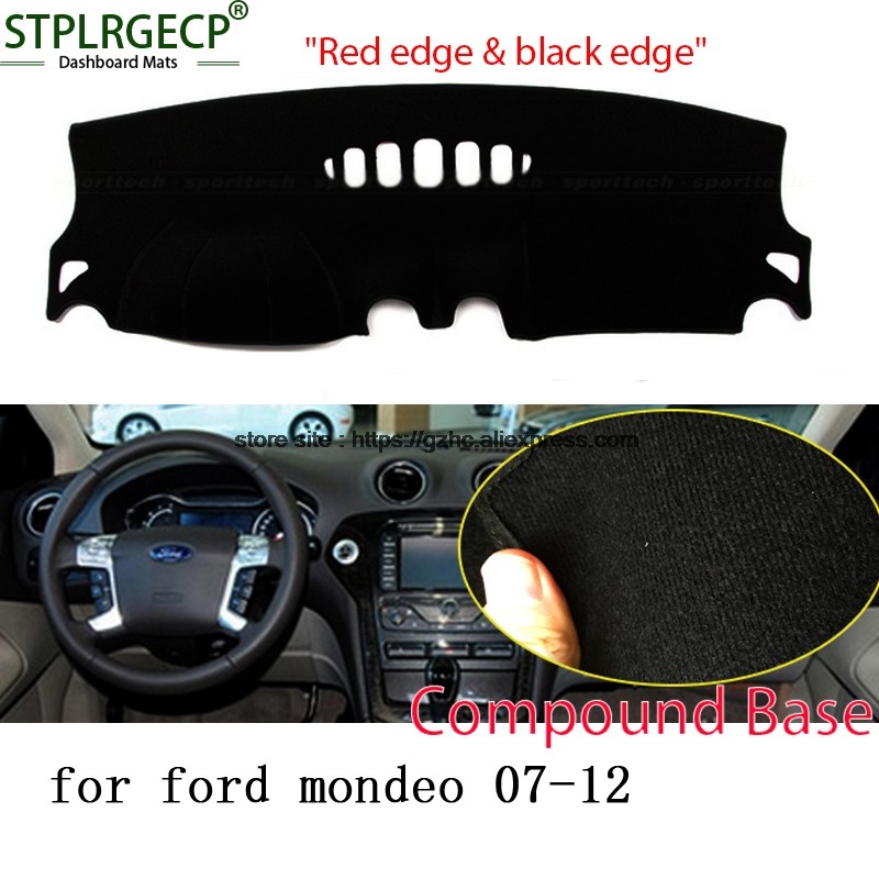 StplrgeCP For Ford mondeo doulbe layer Car Dashboard Cover Avoid Light Pad Instrument Platform Dash Board Cover Sticker