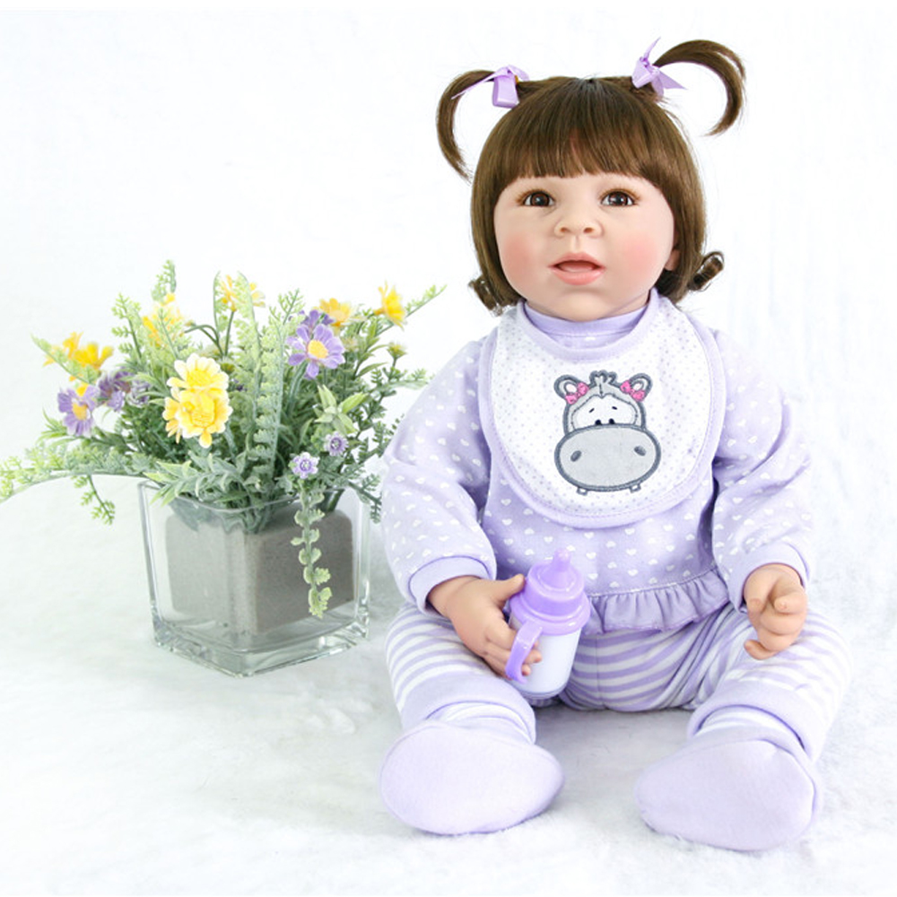 20 Inch Open mouth Doll Reborn Babies Doll For Girls 50 CM Realistic Soft 3/4 silicone Alive Reborn Baby Doll For Kids DIY toy20 Inch Open mouth Doll Reborn Babies Doll For Girls 50 CM Realistic Soft 3/4 silicone Alive Reborn Baby Doll For Kids DIY toy