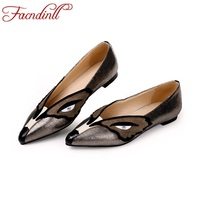 FACNDINLL New Sheepskin Women Single Shoes Pointed Toe Leather Pumps Soft Bottom Fashion Work Casual Dress