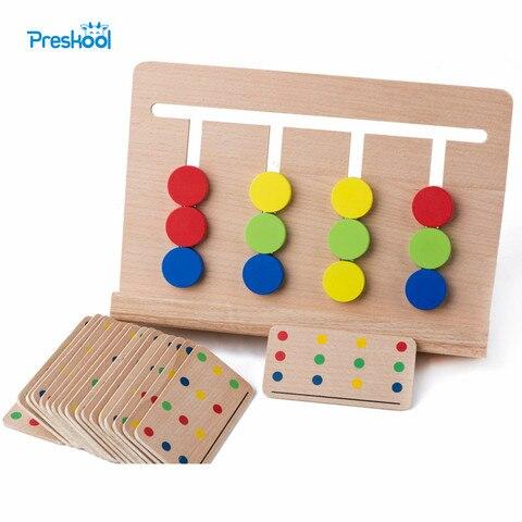brinquedo do bebe montessori quatro cores jogo cor correspondencia para educacao infantil pre escolar formacao