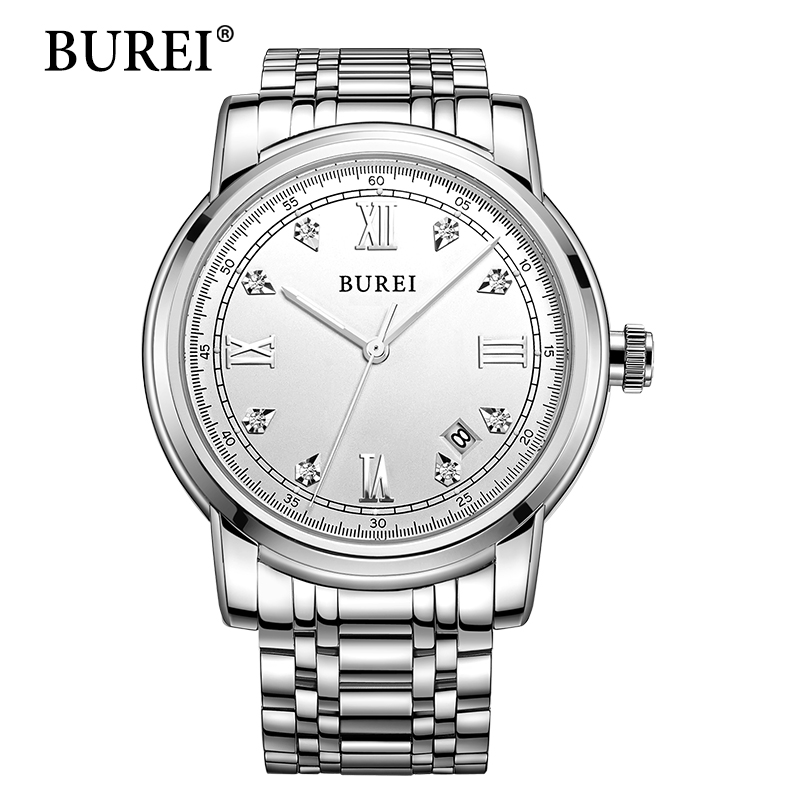 BUREI New 2017 Men Watch Top Brand Luxury Sapphire Man Hours Stainless Steel Band Automatic Mechanical Wristwatch male clock mce top brand mens watches automatic men watch luxury stainless steel wristwatches male clock montre with box 335