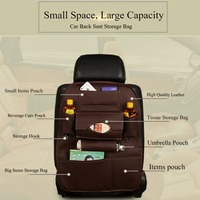 7 Pocket Foldable Car Care Leather Car Seat Cover Storage Trip Waterproof Car Styling Travel Bag