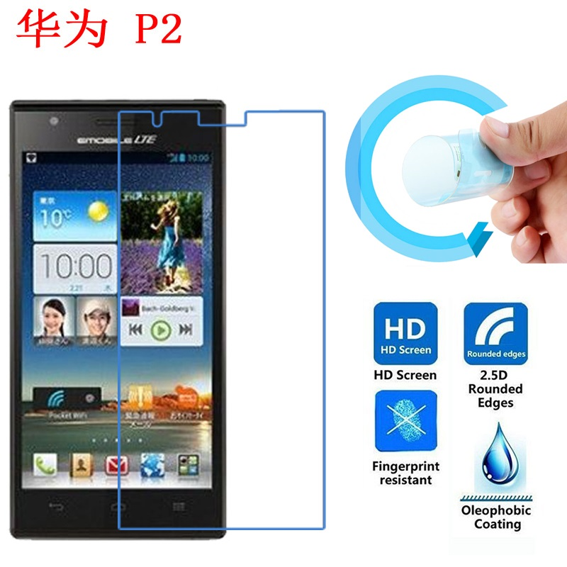 Huawei Ascend P2 Screen Protective Film, Ultra-Thin Soft Pet Screen Protector Film for Huawei Ascend P2 / P2-6011 LTE