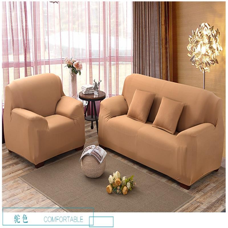 Solid Color Stretch Sofa Slipcover I L Shaped Sofa Cover