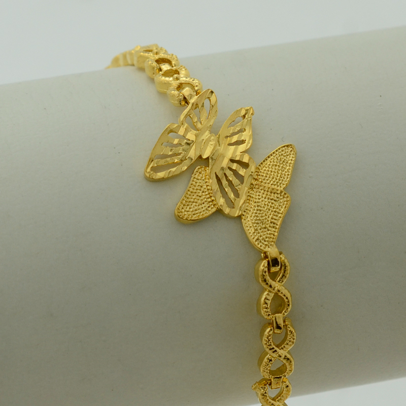 Online Shop Anniyo 17.5cm Butterfly Bracelet Bangle for Women Gold ...