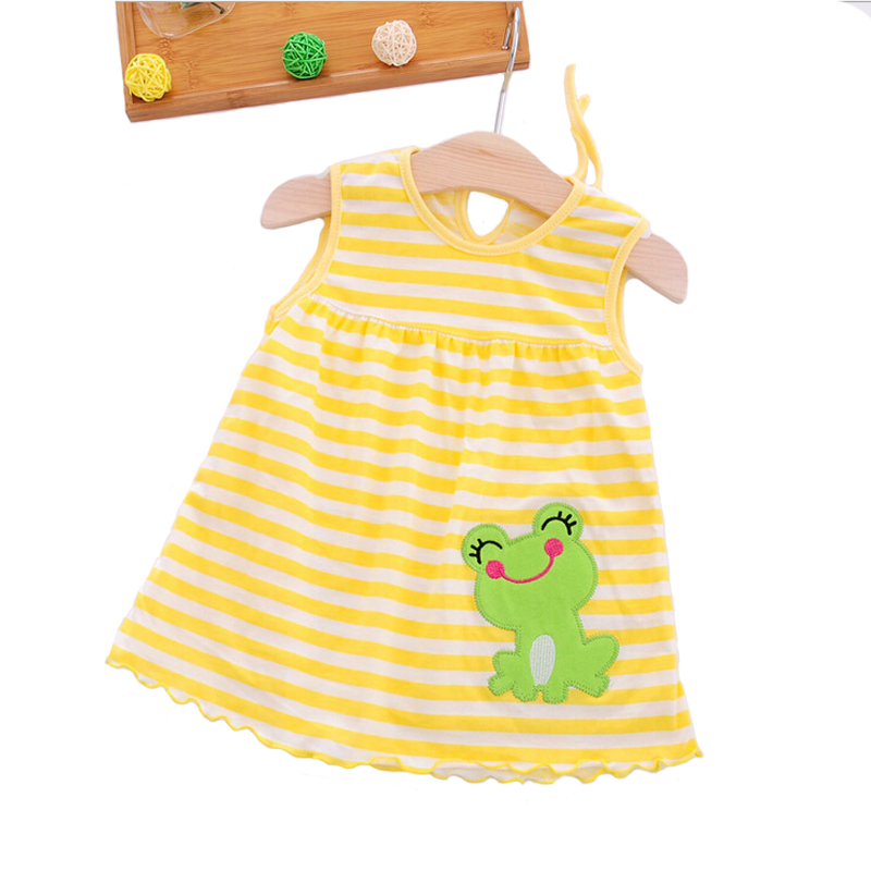 Kids Cotton Regular Sleeveless A-Line Dresses Cute Vestido Infantil Baby Girl Dress Casual Clothing Minin Princess 0-24 Months