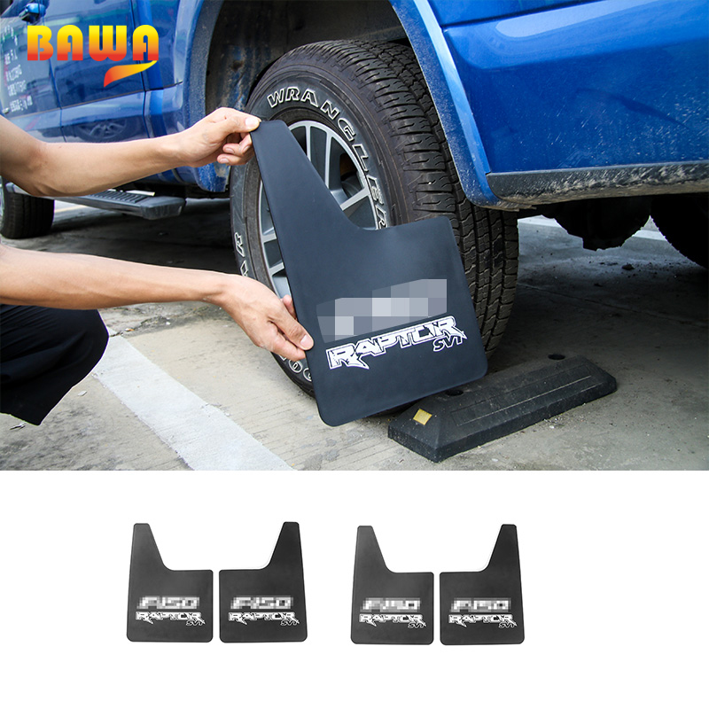 HANGUP ABS Car Exterior Front Rear Mudguards Mud Flaps Splash Guards Decoration Trim Stickers fender for FORD F150 2015 2016-in Mudguards from Automobiles & Motorcycles    1