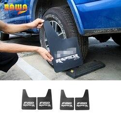 HANGUP ABS samochód zewnętrzne przednie tylne błotniki błotniki błotniki dekoracji wykończenia naklejki błotnik dla FORD F150 2009 + 2015 +
