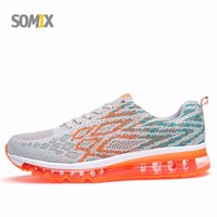 Somix Super AIR Cushion Men Damping Running Shoes Light Air Mesh Sneakers For Men Breathable Hard