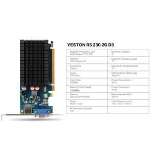 Image 2 - Yeston Radeon R5 230 GPU 2GB GDDR3 64 비트 게임용 데스크탑 컴퓨터 PC 비디오 그래픽 카드 지원 VGA/HDMI PCI E X16 2.0