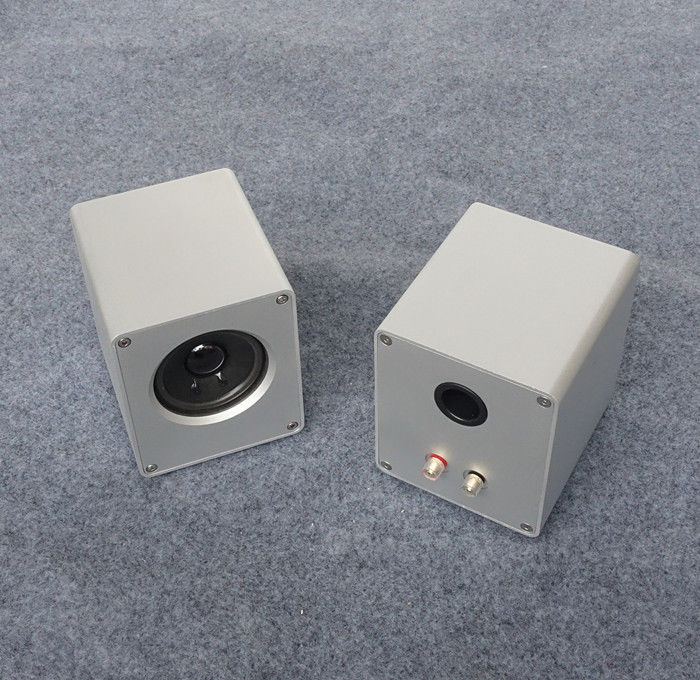 ZEROZONE One Pair Desktop Speaker Aluminum Enclosure DIY Chassis (no Speaker) L7-16
