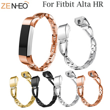 Replacement metal watch band For Fitbit Alta /Alta HR Wristband Rhinestone women's bracelet for Strap Watchband