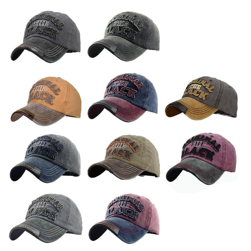 2019 new hot European and American letters original black washed denim golf cap outdoor sports visor cap