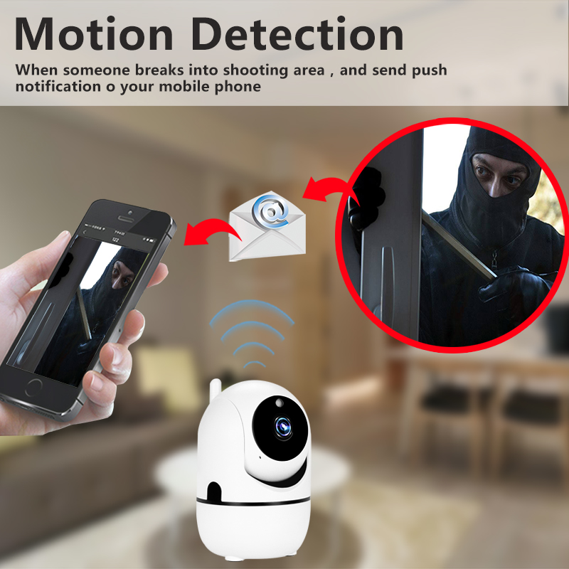 2 Megapixel Home Smart Human Body Automatic Tracking Header Security camera US