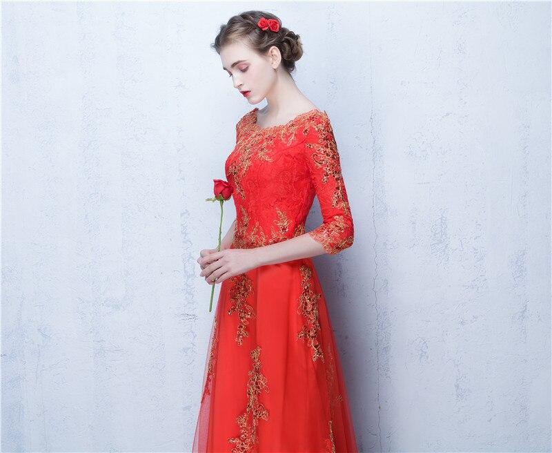 499b1d848b8 Robes formelles tenue de soirée Robe Soiree Longue Femme 2019 rouge une ligne  pas cher longues robes de bal fabriquées en chine dans Robes De Soirée de  ...
