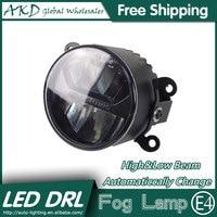 AKD Car Styling LED Fog Lamp For Peugeot 2008 DRL Emark Certificate Fog Light High Low