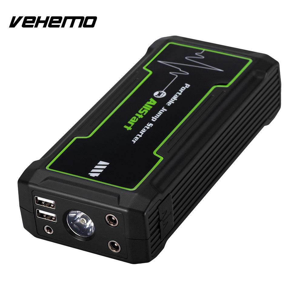 Vehemo noir 16800 mAh 800A pic saut batterie démarreur saut batterie chargeur d'urgence Portable - 3