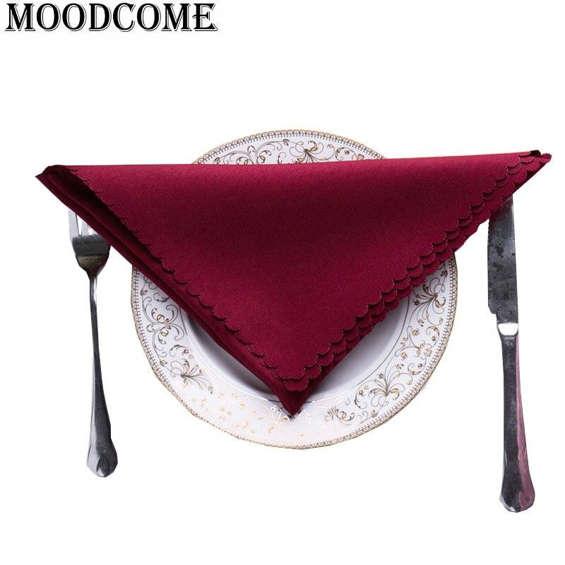 25pcs/lot wholesale cheap hotel Restaurant table dining napkin wedding cotton solid colors napkin