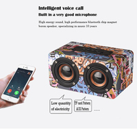 Wood Portable Bluetooth Sound Speaker Stereo Super Bass High Fidelity HiFi Computer Phone MP3 MP4 Double