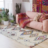 Morocco Nordic Geometric Kilim Carpets for Fiving Room Area Rugs Large Indian Anti slip Bedroom Carpet Kids Room Home Floor Rug