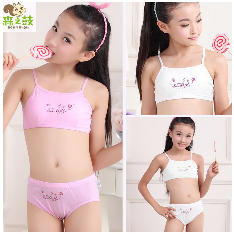 Hot sale Girl Cotton Underwear Set Training Bras Vest and Briefs Girls  underwear sets Undies Puberty Teenagers Student Sport Set 1fdcf4795