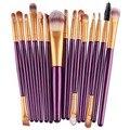 15 Unids Pinceles de Maquillaje Set Sombra de Ojos Mascara Lip Eyeliner de La Ceja En Polvo Fundación Pincel de Maquillaje Herramienta Cosmética Cepillos Pincéis
