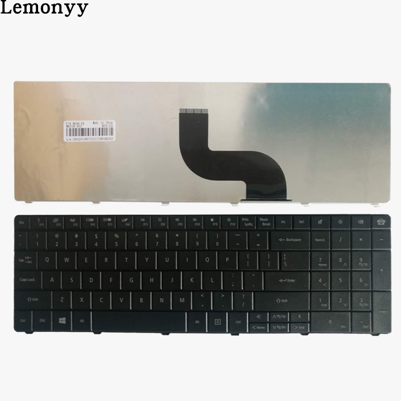 US Laptop Keyboard for Packard Bell Easynote TE69KB TE69HW LE69KB Q5WPH Q5WT6 LE11 black English keyboard new for sony vgn fj series laptop us keyboard 147951221 black