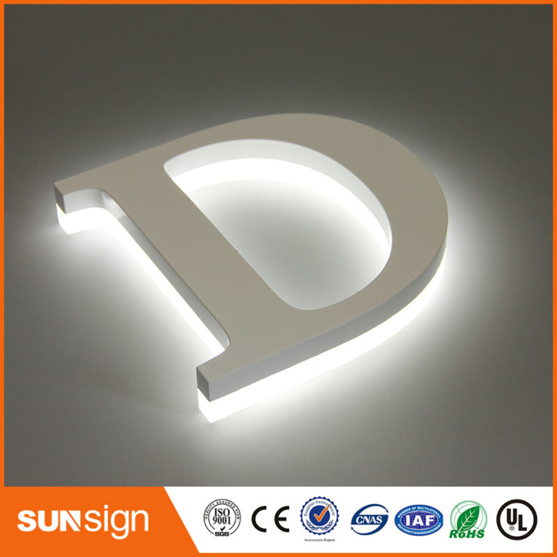 Brushed Stainless Steel Backlit Channel Letter Led