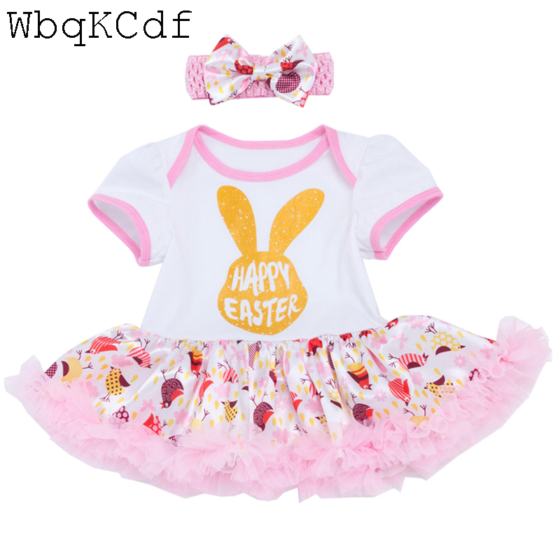 Newborn Birthday Sets 0-2 Years Toddler Bebes Easter Outfit Infant Christening Suit For Baby Girl Gift Tutu Kids Summer Clothes