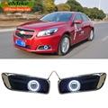 EEMRKE-Car Styling Para Chevrolet Malibu 2010-2015 COB Angel Eyes DRL Faróis de Nevoeiro Luzes 12 V H11 55 W Luzes Diurnas Luz Do Dia