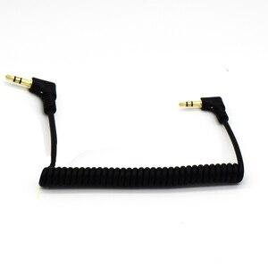 Image 5 - Ult best Cable de toma de Audio en espiral, ángulo recto, 90 grados, 3,5mm, Aux M/ M, Cable AUX para reproductor MP4 de línea de coche móvil, cable auxiliar de 3,5mm