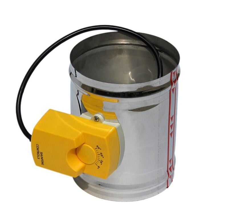100MM stainless steel round adjustable air volume regulating damper 220V electric three position air valve