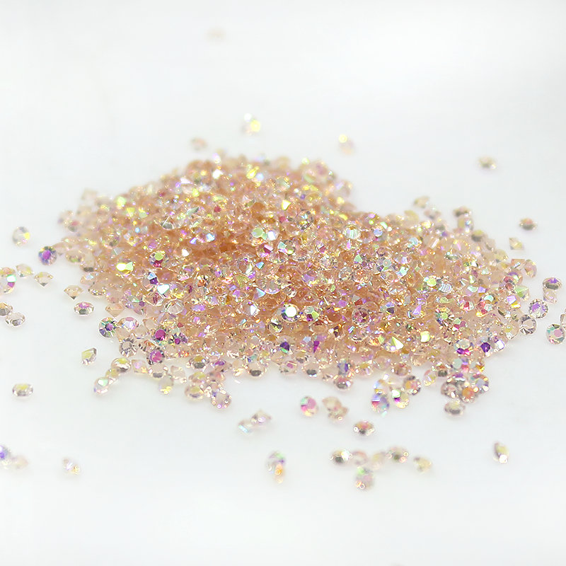 1.1mm 1.3mm AB color Micro Diamond DIY Nails Gems Crystal Nos