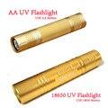 Cree Aluminum 365nm UV Flashlight Violet Light UV Torch Light LED Lamp 18650 Battery Flash light Household Not Lighting