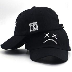 2019 new sad boy bone baseball cap embroidery cotton sad face hip hop dad hat women men summer funny snapback hat for travel(China)