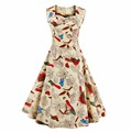 L- 4XL Women Dress Retro Vintage 1950s 60s Rockabilly Floral Swing Summer Dresses Elegant Tunic Vestidos