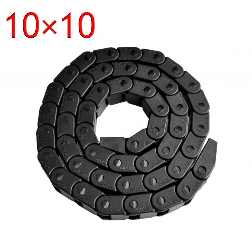 ! Best Price!!! 10 X 10mm L1000mm Cable Drag Chain Wire Carrier With End Connectors For Cnc Router Machine Tools Preventing Hairs From Graying And Helpful To Retain Complexion
