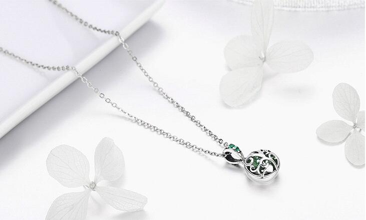 Authentic 925 Sterling Silver Sets Luxury Tree of Life Green Crystal AAA CZ Jewelry Set Sterling Silver Jewelry Gift-in Jewelry Sets from Jewelry & Accessories    3