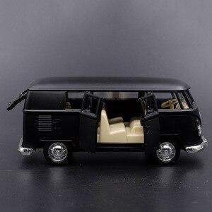 Image 2 - 1:36 V ואן למשוך בחזרה מכוניות צעצוע מודל קלאסי גבוהה רטרו הסימולציה צעצועי רכב לילדים