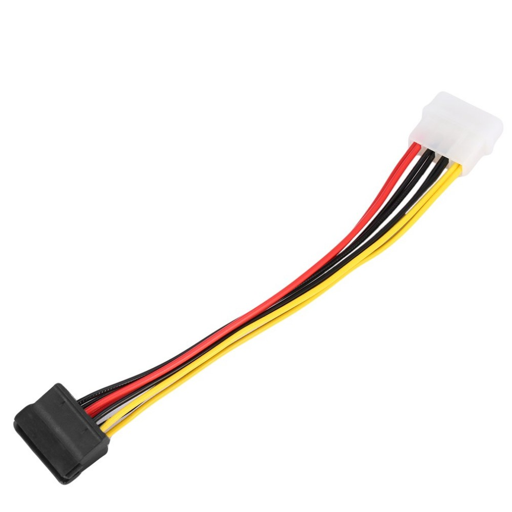4 pin IDE Molex to 3 Serial ATA SATA Power Splitter Extension Cable Connector v!