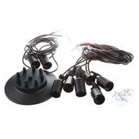 8 luzes do vintage edison lâmpada sombra múltipla ajustável diy aranha teto lâmpada pendente iluminação lustre moderno chique fácil ajuste|Luzes de pendentes| |  -