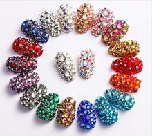 350pcs ss3-ss20 Mix Sizes Nail Art Non HotFix Crystal Rhinestone,Flatback 3D Glass Non Hot Fix Rhinestones Nail Decoration