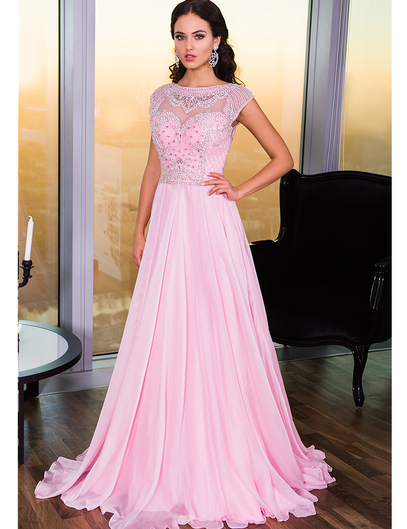High Quality Elegant Pink Evening Gown-Buy Cheap Elegant Pink ...