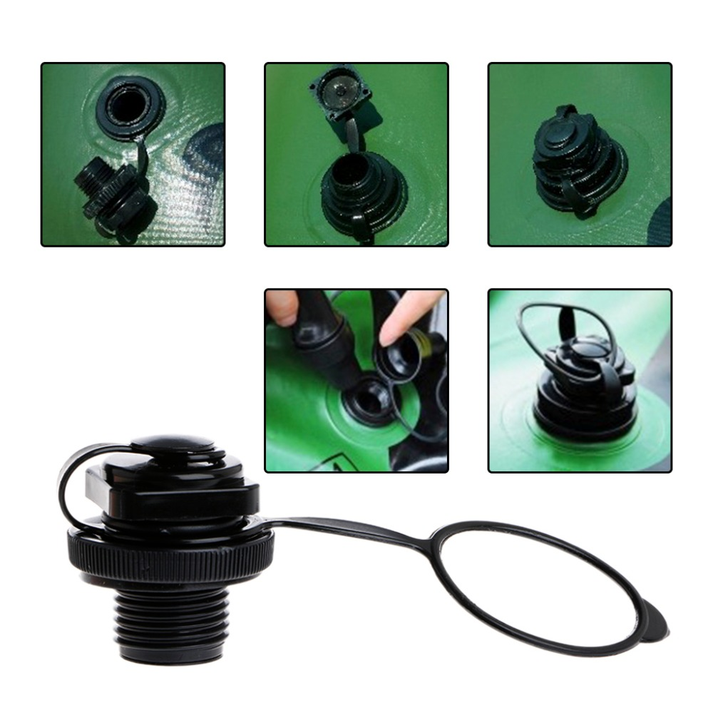 Air Valve Caps Screw For Inflatable Boat Fishing Boats Raft Airbed Outdoor  Black(China (
