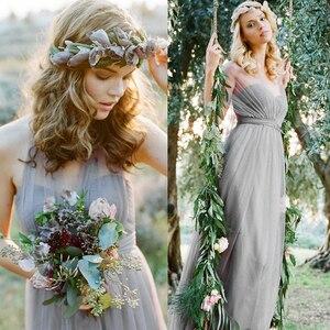 Image 4 - Bruidsmeisje Jurken Elegante Lange Wedding Party Dress Plus Size Royal Prom Zus Gast Bruidsmeisje Jurk Tule Robe Soiree 960