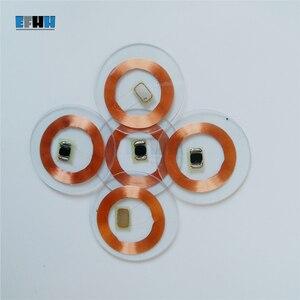 Image 4 - 125 KHZ TK4100/EM4100 שבב + סליל קוטר 25mm שקוף PVC מטבע כרטיס לקרוא רק RFID מזהה כרטיס בקרת גישה כרטיס