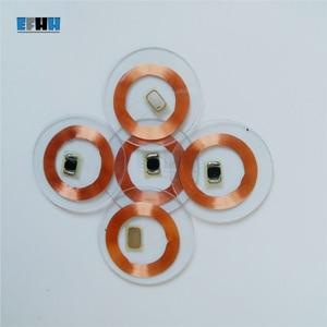 Image 4 - Chip TK4100/EM4100 de 125KHZ + diámetro de la bobina 25mm, tarjeta de moneda de PVC transparente, lectura única, tarjeta de identificación RFID en la tarjeta de Control de acceso